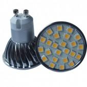 Spot LED  GU10 SMD 3,7W 220V blanc chaud