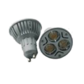 Spot LED dimmable GU10  3W 220V 240LM blanc chaud