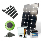 Kit solaire 85 W 12 V avec batterie