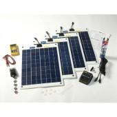 Kit solaire flexible complet 80w