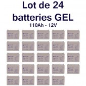 Batterie GEL Deep Cycle - 12V 110Ah Victron Energy - BAT412101100 X 24