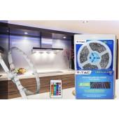Rouleau LED RGB étanche flexible 5 mètres en kit complet