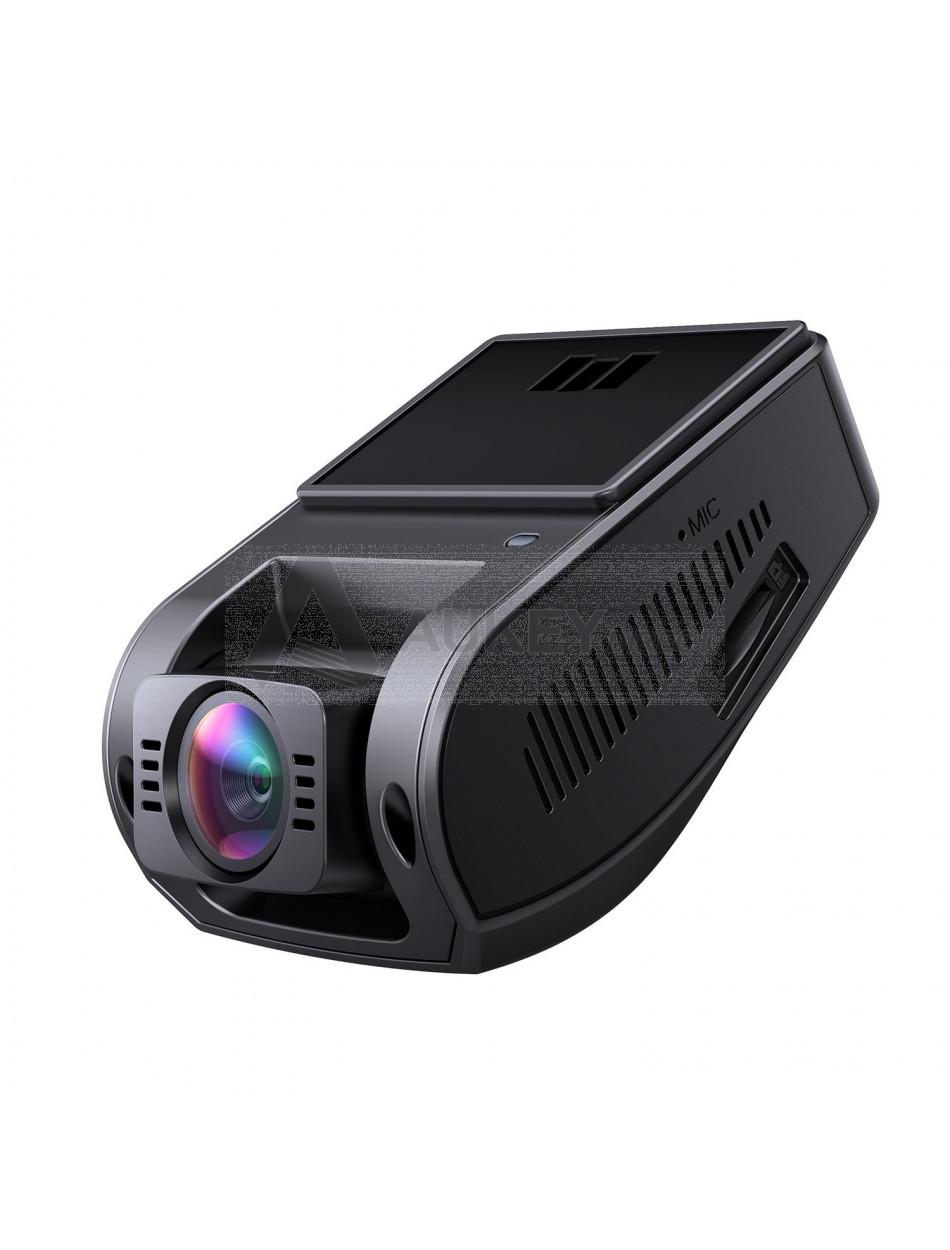 AUKEY Telecamera per Auto 4K HD Dash Cam con Obiettivo Grandangolare, Super Condensatore, HDR Visione Notturna Videocamera per Auto con Registrazione in Loop, G-Sensor e Caricatore USB da Auto a 2-Porta