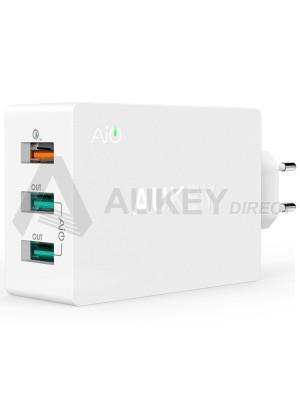 AUKEY PA-T2 Caricabatteria da muro 42W Quick Charge 2.0 (Bianco)