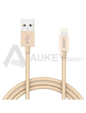AUKEY CB-D16 Apple MFi Cavo Lightning USB (Dorato)