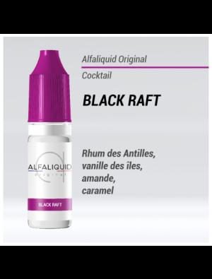 Gamme de liquide ALFALIQUID 10ml goût Black Raft