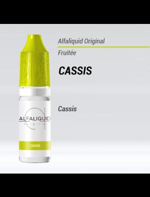Gamme de liquide ALFALIQUID 10ml goût cassis