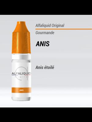 Gamme de liquide ALFALIQUID 10ml goût anis