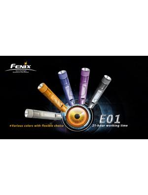 Lampe Fenix E01 couleur violet