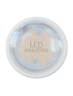 Spot LED 6W GU10 230V PLASTIQUE ALUMINIUM - LED Epistar SMD - Blanc Chaud