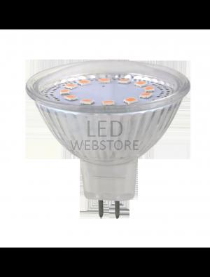 Spot LED 3W GU5.3 230V - LED JCDR Verre - Blanc chaud