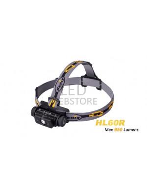 Fenix HL60R - 950 Lumens - lampe Frontale rechargeable USB avec pile