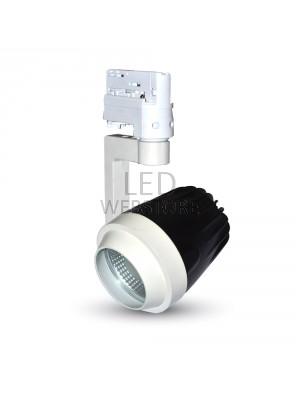 Support 4 core pour les lampes rail - Blanc