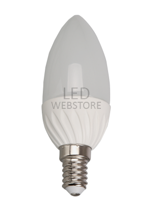 Ampoule LED - 4W 220V E14 - Bougie - Blanc chaud
