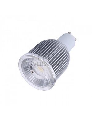 Spot LED 6 ou 9W GU10 220V - LED Sharp COB - Blanc chaud