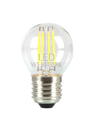 Ampoule LED 4W 230V E27 G45 - Verre - Blanc Chaud dimmable