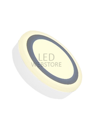 Mini panneau twin LED 8W 230V - Rond - Blanc chaud