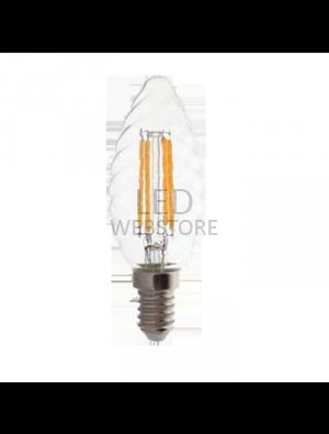 Ampoule LED 4W 230V E14 - Verre - Blanc Chaud