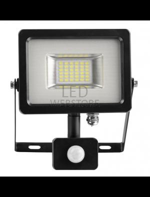 Projecteur LED 20W - PIR avec détécteur - Blanc froid