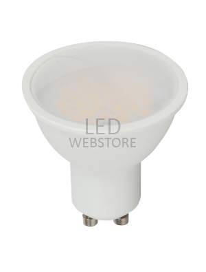 Spot LED 5W GU10 220V - Plastique SMD - Blanc chaud