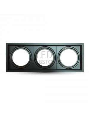 Montage pour spots LED 3xAR111 - Noir