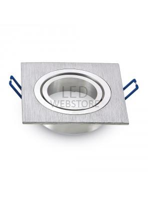 Montage pour spots LED 1*GU10 Aluminium griffé