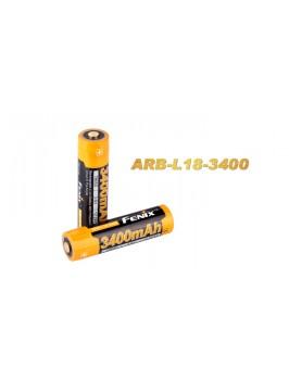 Pile rechargeable ARB-L2S (Nouveau nom Fenix pile ARB-L18) - modèle 18650, 3400 mAh pour toutes les lampes Fenix utilisant des 18650