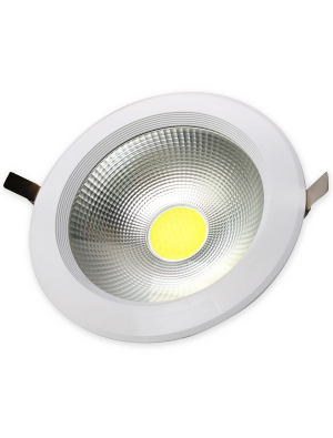 Spots LED encastrables COB 18W - Réflecteur - Blanc chaud