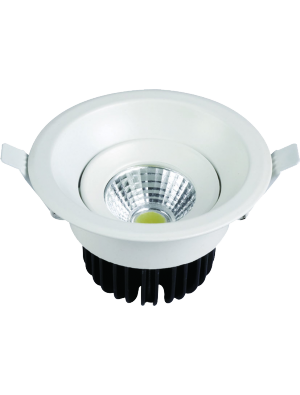 Spots LED encastrables COB 8W - Rond - Blanc chaud
