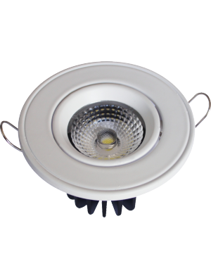Spots LED encastrables COB 5W - Rond Angle changeable - Blanc chaud