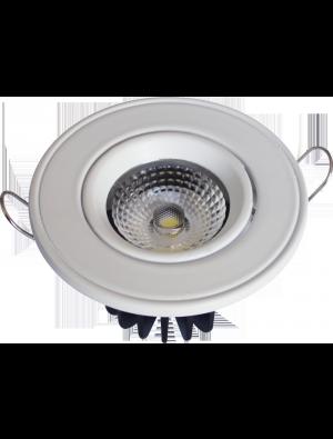 Spots LED encastrables COB 5W - Rond Angle changeable - Blanc chaud