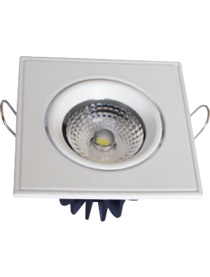 Spots LED encastrables COB 5W - Carré Angle changeable - Blanc chaud