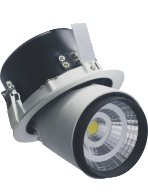 Spots LED encastrables COB 25W - Zoom Fitting- Blanc froid