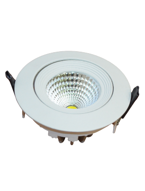 Spots LED encastrables COB 6W - Blanc chaud