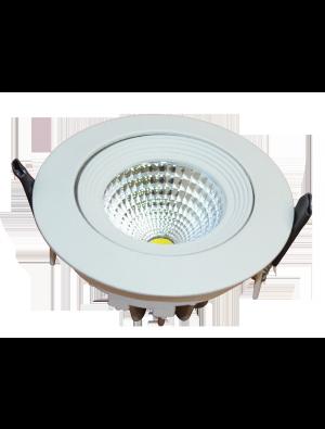 Spots LED encastrables COB 6W - Blanc chaud