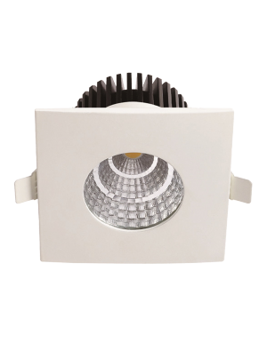 Spots LED encastrables COB 6W - Carré IP65 - Blanc chaud