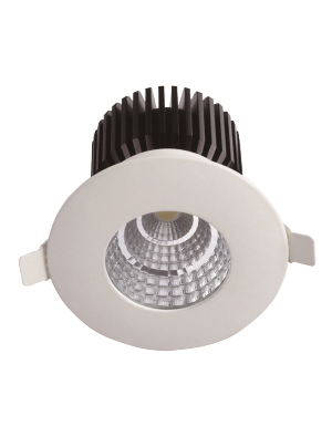 Spots LED encastrables COB 6W - Rond IP65 - Blanc chaud