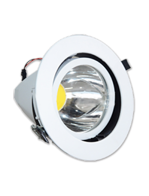 Spots LED encastrables COB 20W - Zoom Fitting Rond - Blanc chaud