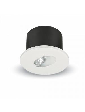 Spots LED encastrables COB 3W - Rond - Blanc chaud
