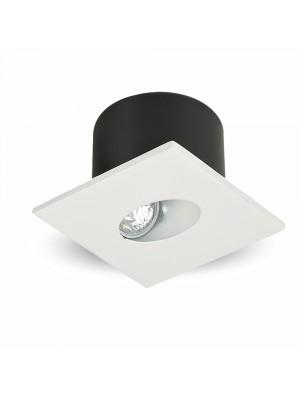Spots LED encastrables COB 3W - Carré - Blanc chaud