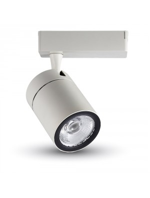 Lampe rail LED 35W - Blanc - Blanc chaud