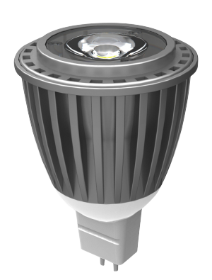 Spot LED 7W MR16 (GU5.3) 12V - LED Sharp COB - Blanc chaud