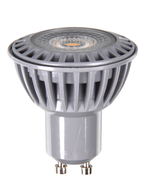 Spot LED 6W GU10 230V - Plastique blanc - LED COB - Blanc Froid