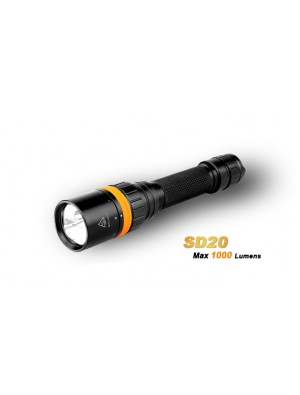Fenix SD20 - Lampe de plongée - 1000 Lumens  + LED rouge