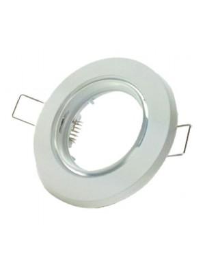 Support d'encastrement orientable blanc pour spot Φ50