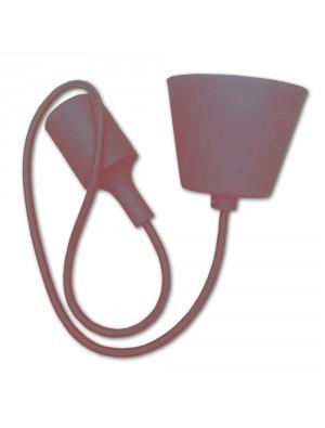 Porte ampoule E27 - Marron