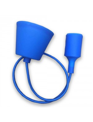 Porte ampoule E27 - Bleu