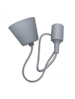Porte ampoule E27 - Gris