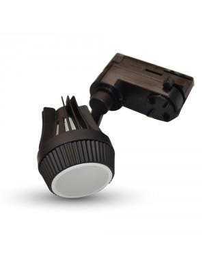 Montage noir pour spots LED GU10 en lampe rail