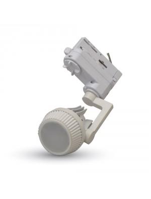 Montage blanc pour spots LED GU10 en lampe rail